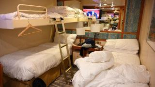 ダイヤモンド・プリンセス 内側客室のベッド3つ
