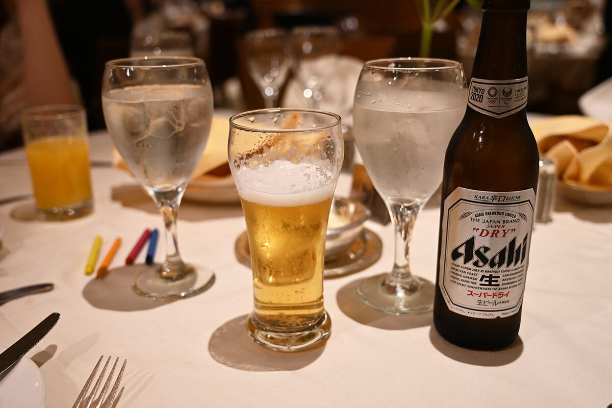 ダイヤモンド・プリンセス 夕食に飲んだ瓶ビール