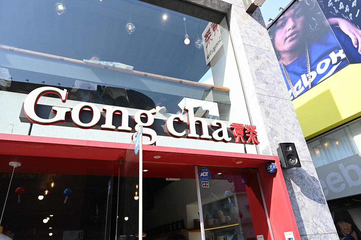 釜山のタピオカ店