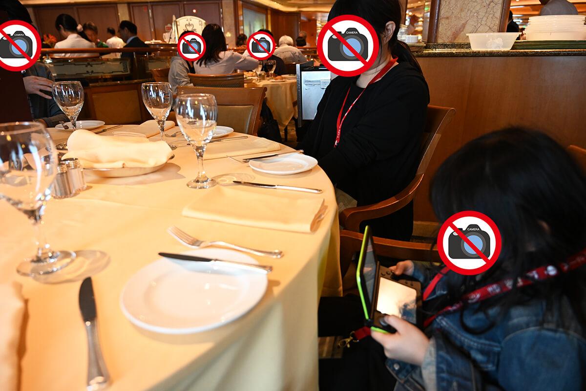 ダイヤモンド・プリンセス 昼食のダイニングレストラン