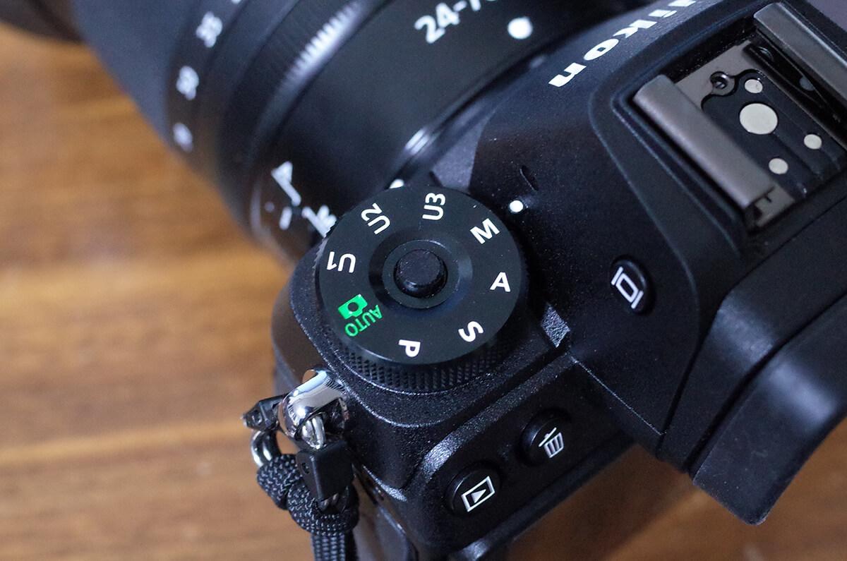 Nikon Z7をマニュアルモードに設定