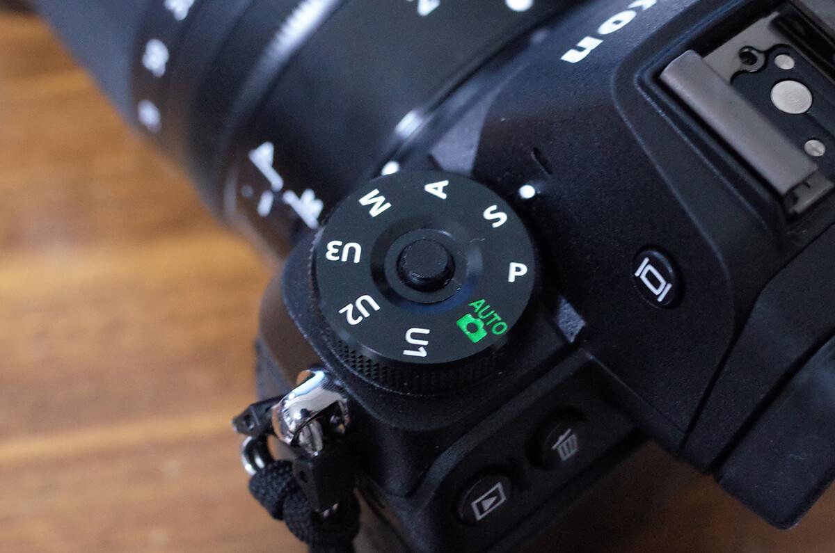 Nikon Z7をシャッター優先モードに設定