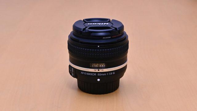 AF-S NIKKOR 50mm f/1.8G Special Editionを正面から
