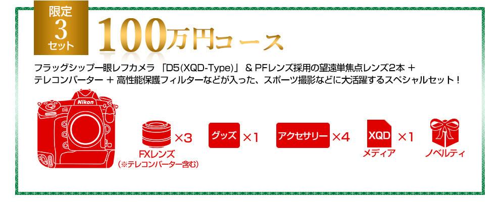Nikon 2019年福袋 100万円コース