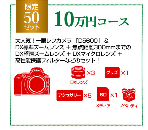 Nikon 2019年福袋 10万円コース