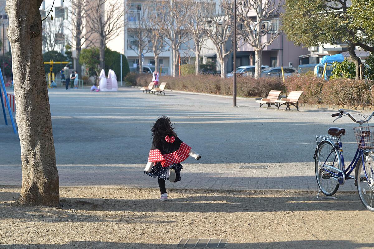 タムキューの作例 走る子供