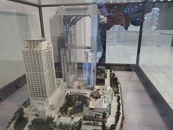 梅田スカイビルの模型