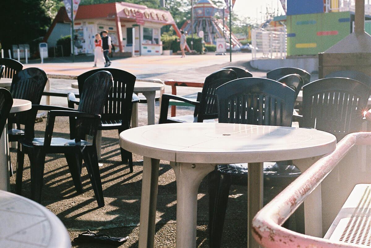 よみうりランドの休憩スペース