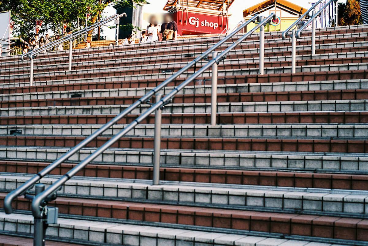 よみうりランドの階段