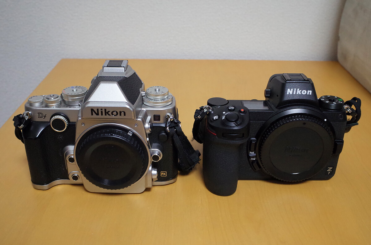 Nikon Z7とDf 正面から