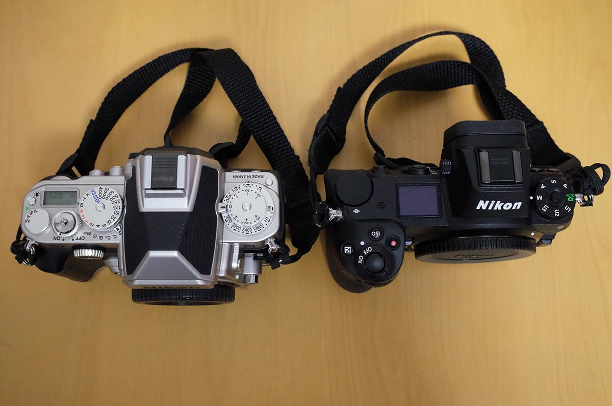 Nikon Z7とDf 上部から