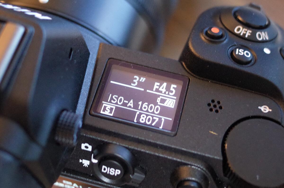 Nikon Z 7 サブモニター