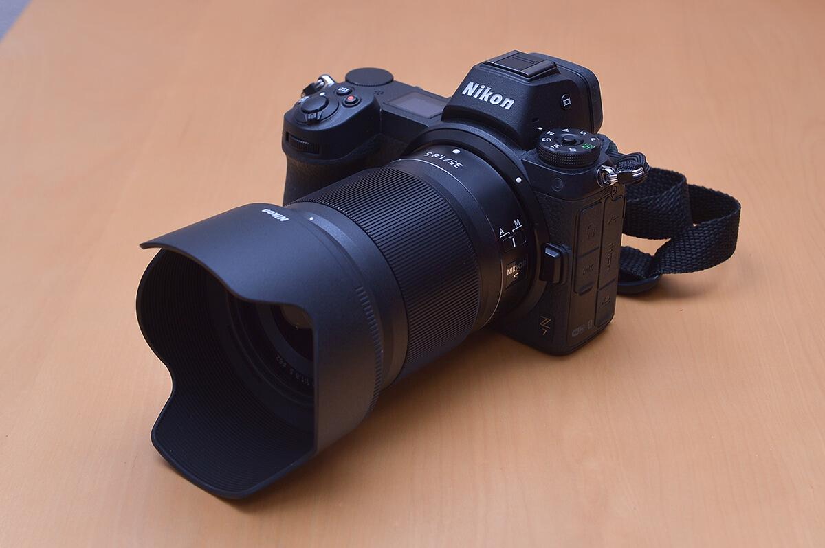 NIKKOR Z 35mm f/1.8 S Nikon Z7に装着